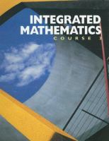 Cover image for Integrated mathematics: course 3