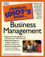 Cover image for The complete idiot's guide to business management