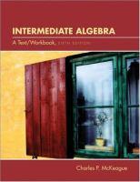 Cover image for Intermediate algebra : a text/workbook