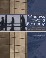 Cover image for Windows on the world economy : an introduction to international economics