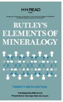Cover image for Elements of mineralogy