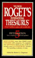 Cover image for The concise Roget's international thesaurus