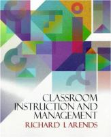 Cover image for Classroom instruction and management