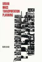Cover image for Urban mass transportation planning