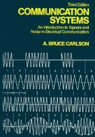 Cover image for Communication systems : an introduction to signals and noise in electrical communication
