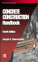 Cover image for Concrete construction handbook