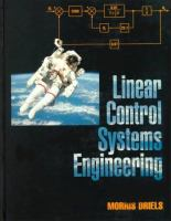 Cover image for Linear control systems engineering