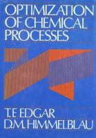 Cover image for Optimization of chemical processes