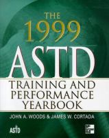 Cover image for ASTD training and performance yearbook