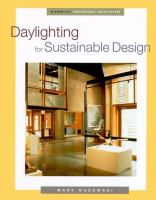 Cover image for Daylighting for sustainable design