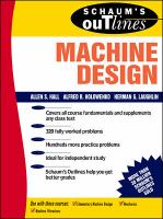 Cover image for Schaum's outline of  theory and problems of machine design