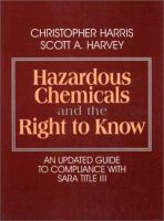 Cover image for Hazardous chemicals and the right to know