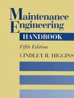 Cover image for Maintenance engineering handbook
