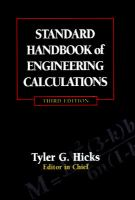 Cover image for Standard handbook of engineering calculations