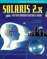 Cover image for Solaris 2.x system administrator's guide