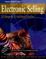 Cover image for Electronic selling : twenty-three steps to e-selling profits