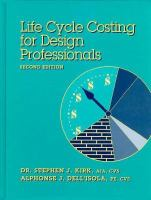 Cover image for Life cycle costing for design professionals