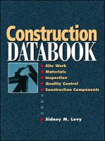 Cover image for Construction databook