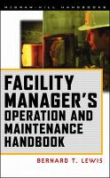 Cover image for Facility manager's operation and maintenance handbook