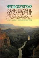 Cover image for Hydrosystems engineering and management