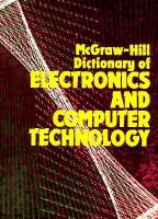 Cover image for McGraw-Hill dictionary of electronics and computer technology