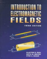 Cover image for Introduction to electromagnetic fields