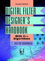 Cover image for Digital filter designer's handbook : with C++ algorithms