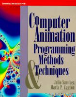 Cover image for Computer animation : programming methods and techniques