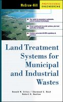 Cover image for Land treatment systems for municipal and industrial wastes