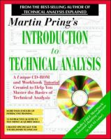 Cover image for Martin Pring's introduction to technical analysis