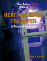 Cover image for HEAT AND MASS TRANSFER : A PRACTICAL APPROACH