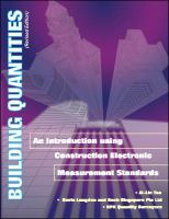 Cover image for Building quantities an introduction using construction electronic measurement standards