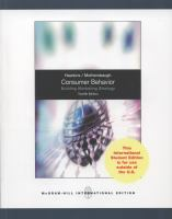 Cover image for Consumer behavior : building marketing strategy
