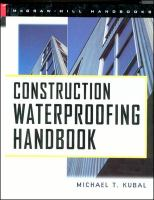 Cover image for Construction waterproofing handbook