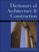 Cover image for Dictionary of architecture and construction