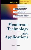 Cover image for Membrane technology and applications