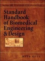 Cover image for Standard handbook of biomedical engineering and design