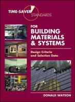Cover image for Time-saver standards for building material and systems : design criteria and selection data
