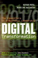 Cover image for Digital transformation : the essentials of e-business leadership