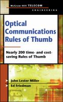 Cover image for Optical communications rules of thumb