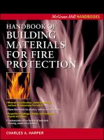 Cover image for Handbook of building materials for fire protection