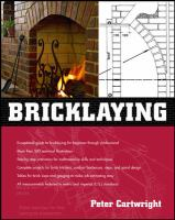 Cover image for Bricklaying