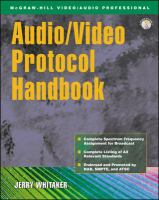 Cover image for Audio/video protocol handbook : broadcast standards and reference data