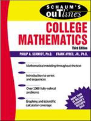 Cover image for Schaum's outline of theory and problems of college mathematics : algebra, discrete mathematics, precalculus, introduction to calculus