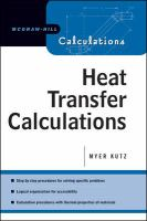 Cover image for Heat-transfer calculations