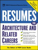 Cover image for Resumes for architecture and related careers