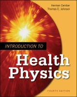 Cover image for Introduction to health physics