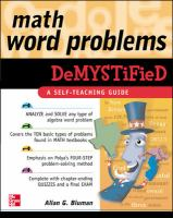 Cover image for Math word problems demystified