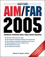 Cover image for AIM/FAR 2005 : aeronautical information manual / federal aviation regulations