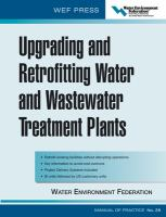 Cover image for Upgrading and retrofitting water and wastewater treatment plants